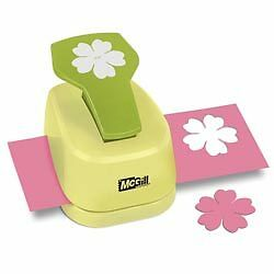 """FLORIANO 2-1/8"""" Paper Blossoms Lever Flower Paper Punch - McGill"""