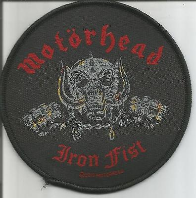 MOTORHEAD Iron Fist Woven Patch Sew On Official Band Merch