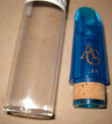 SPECIAL SALE!  MINT GIGLIOTTI SPECTRUM BLUE Bb CLARINET MOUTHPIECE