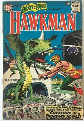Brave and Bold 34, DC Comics , March 1961, 1st Hawkman and Hawkgirl