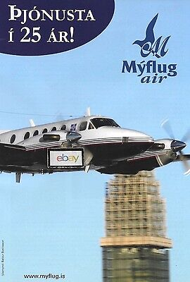 Myflug Air Iceland Flugfelag Islands Beechcraft B200 King Air 2012 Charter #2 Ad
