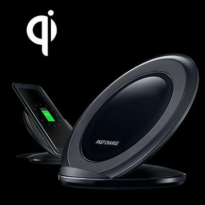Real Qi Wireless Fast Charger Charging Stand Dock For Samsung Galaxy S7 Edge