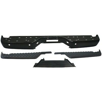 Step Bumper Kit For 2004-2014 Nissan Titan Rear 4pc With Bumper Step Pad