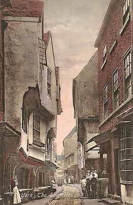 York,U.K.The Shambles,North Yokshire,Pub,Shops,Color,c.1909