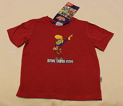 Brisbane Lions AFL Boys Mascot Maroon Short Sleeve Printed T Shirt Size 00 New