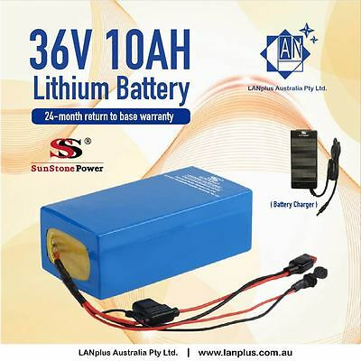 36V 10AH Lithium Battery w/ Charger for  eBike Electric Scooter Mobility Bicycle