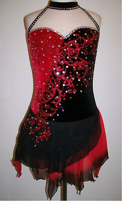 Ice Figure Skating Dress/Majorettes Baton Twirling Costume/Tap Dance outfit