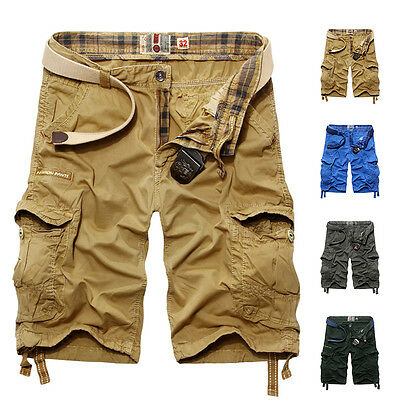 New Summer Mens Casual Shorts Pants Trousers Cotton Camo Work Army Combat Cargo