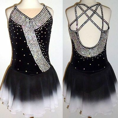 Ice Figure Skating dress/Twirling leotard/Tap/Dance Costume/outfit Made to Fit