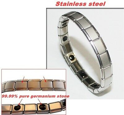 Germanium Ion Balance Healthy Bracelet 99.99% Pure Germanium Stone Wristband