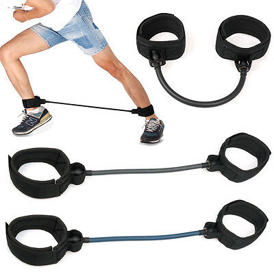 Legs Thigh Latex Resistance Rubber Band Gym Fitness Training Workout Exercises