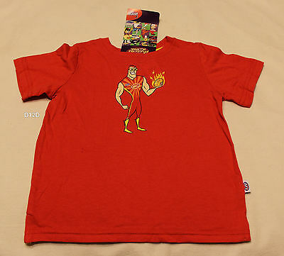 Gold Coast Suns AFL Boys Mascot Red Short Sleeve Printed T Shirt Size 0 New