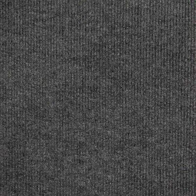 Cheap Carpet Tiles | Grey| Ribbed | Peel and Stick | 50cm x 50cm | £2.30/Tile