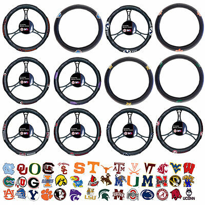 New Licensed NCAA Teams Logo 1 Steering Wheel Cover Universal for Car Truck