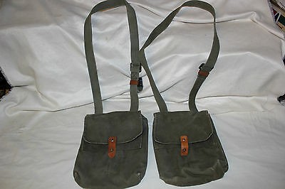"""2 Yugoslavian Military AK-47 4 Cell Magazine Pouch for 30 Round Mag """"B Grade"""""""