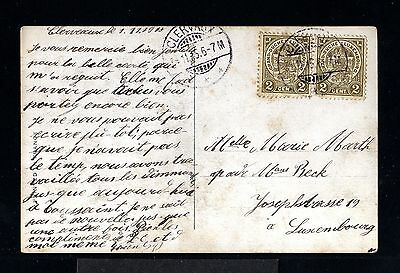 10998-LUXEMBURG-OLD POSTCARD CLERVAUX to LUXEMBOURG.1915.WWI.Carte postale.