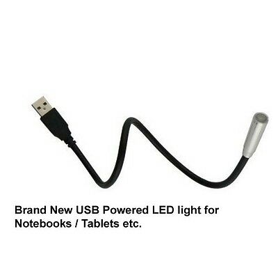 NEW USB LED Lamp Light Black Laptop Notebook Computer PC LED Reading Book Night