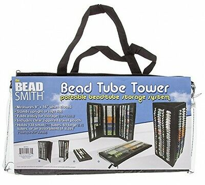 Bead Tube Tower Holds Round Tubes Black Upright Stand Folding Storage New