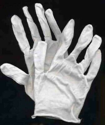 (3) Pairs Of Cotton Coin Handling Gloves