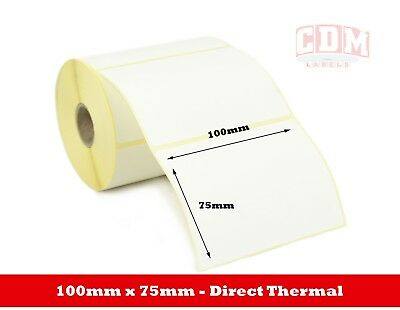 500 - 100 x 75mm Direct Thermal Labels - Zebra, Citizen, Toshiba Printers