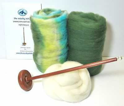 Drop Spindle Yarn Spinning Kit, Erin, Available in Top or Bottom Whorl