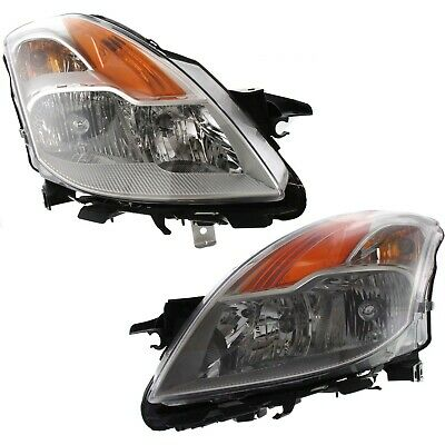 Headlight Set For 2008-2009 Nissan Altima Coupe Left and Right With Bulb 2Pc