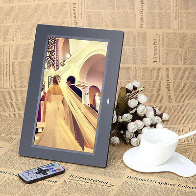New 10.1 inch HD LCD Digital Photo Frame Alarm Video Player Remote XH