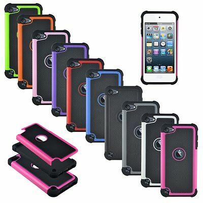 Rugged Shield Shockproof Silicone Hard Case Cover for iPod Touch 5 6 th Gen
