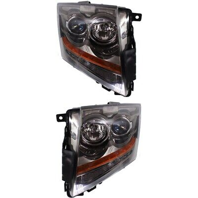 Headlight Set For 2008-2015 Cadillac CTS Left and Right With Bulb 2Pc