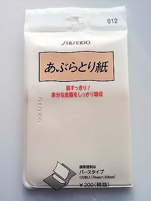 BRAND NEW Japan Shiseido Face Off Shine Oil blotting Paper 120 Sheet 74x104mm