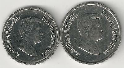2 DIFFERENT COINS from JORDAN - 5 & 10 PIASTRES (BOTH DATING 2012)