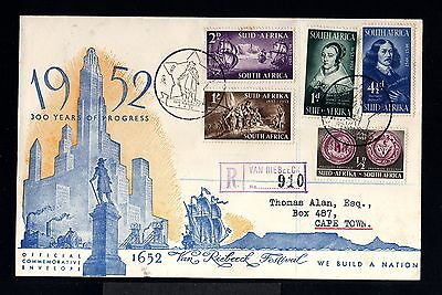 11028-SOUTH AFRIKA-REGISTERED COVER VAN RIEBEECK to CAPE TOWN.1952.BRITISH.