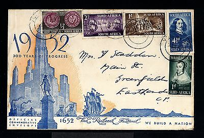 11029-SOUTH AFRIKA-OFFICIAL COVER VAN RIEBEECK to EASTLAND.1952.BRITISH.