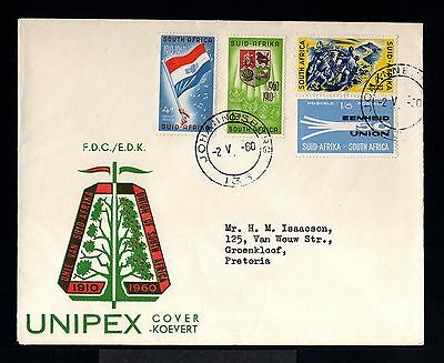 10990-SOUTH AFRIKA-FIRST DAY COVER JOHANNESBURG to PRETORIA.1960.BRITISH.