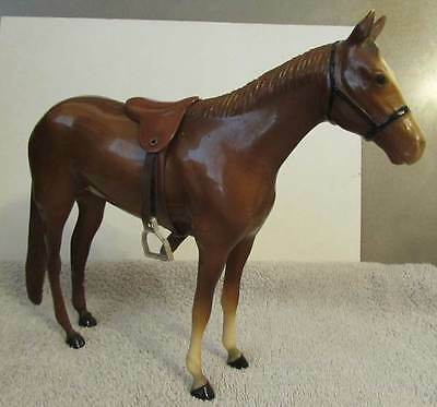 Breyer Race horse with saddle 1956-1967 2 white socks preowned.
