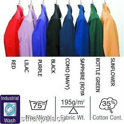 Dennys Coloured Chefs Jackets All Sizes & Colours Available XS S M L XL 1X