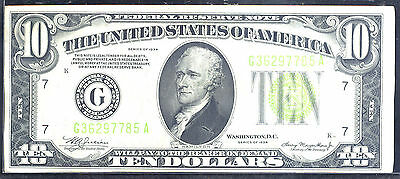 1934 $10 Federal Reserve Note-Chicago -Illinois