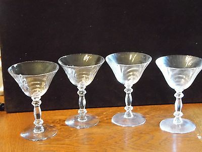4 Clear Champagne Tall Sherbet Glass Stemware Caprice by Cambridge