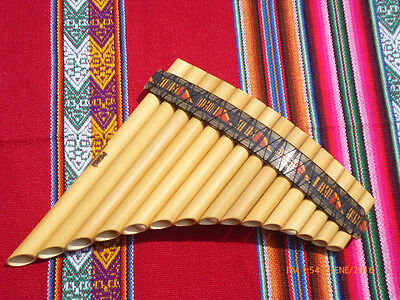 Professional Panflute 15  Pipes Tunable  - From Peru  -See Video