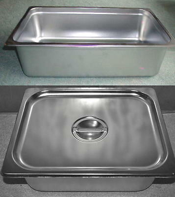 New~Gastronorm Gn Trays~Bain Marie~ Steam Baking  Pan  With Lid~Free Shipping