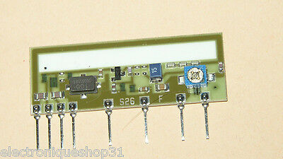 AUREL SAW RF Transmitter with INTRGRATED ANTENNA TX-SAW I.A.  433 Mhz