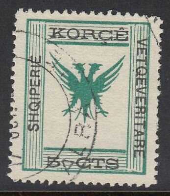 ALBANIA : 1917 5c green and black  SG70 used