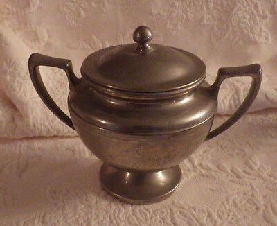 """Universal Made in USA Sugar Creamer Canister with Lid 6"""" Tall x 7"""" Wide"""