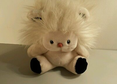 Vintage Applause Bandy Lion Plush Stuffed Animal White 1983 Russ Berrie