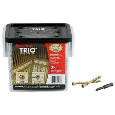 FastenMaster FMTRD003-350 Trio 3 in. Brown Ultimate Deck Screw 350 Pack