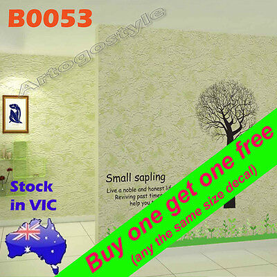 B0053 Reusable small Tree Grass Wall Decal Sticker office School home Room decor
