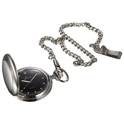 Visol VPW008 Lux Brushed Stainless Steel Pocket Watch