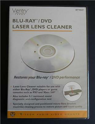 Blu-Ray DVD xBox PS3 PC 3 Brush Laser Lens Cleaner - Instant Ship
