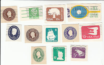 Lot 807-US  Mixed lot of 12 old cut squares