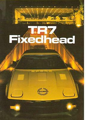 TRIUMPH TR7 FIXED HEAD SALES BROCHURE   LATE 70's